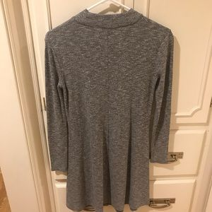 Madewell gray long-sleeve dress